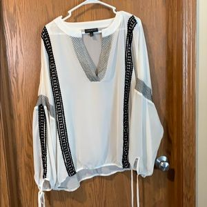 Lane Bryant black and white tunic